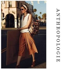 Anthropologie Elevenses Kinney Culottes
